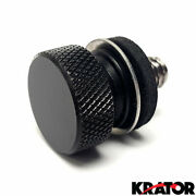 Black Seat Screw Knurled Seat Cover Bolt For Harley Davidson Softail Rocker Fxcw