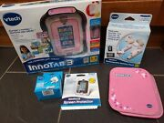 Vtech Innotab 3 Tablet Pink Rechargeable Battery Pack Folio Case 7.5v Adapter