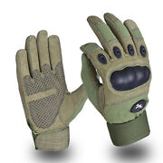 Oliver Green Military Tactical Assault Contact Gloves Hard Knuckle Army Security
