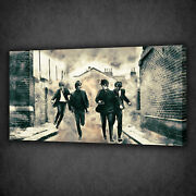 Beatles Music Band Grunge Design Box Canvas Print Wall Art Picture