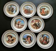 Bing And Grondahl Buffalo Billand039s Wild West Complete 8 Plate Collection Same Number