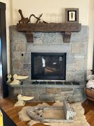 Hand Hewn Rustic Barn Beam Fireplace Mantel Chunky 6 By 8 By 48 With Corbels