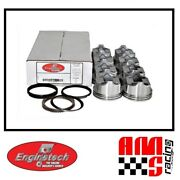 Flat Top Pistons W/ Moly Rings For 1970-1983 Chevrolet Big Block Bbc 454 7.4l