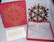 Mma Star Gold Sterling Metropolitan Museum Christmas Tree Top Topper Ornament