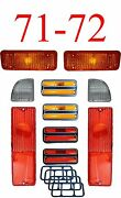 71 72 Chevy 10pc Tail Light Deluxe Side And Amber Parking Light Kit C/k Truck