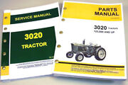 Service Manual Set For John Deere 3020 Tractor Parts Catalog Sn 123,000 And Up
