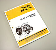 Parts Manual For John Deere 80 820 830 830i Tractor Gas Diesel All Years