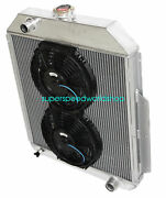 3row Aluminum Racing Radiator+10 Fan For 48-52 Ford F1-f8 Truck W/chevy L6/v8