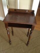 Western Covered Wagon Cowboy Antique Telephone Side Table Very Unusual