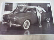 1950 Studebaker Commander Convertible With Miss Arizona 11 X 17 Photo Picture