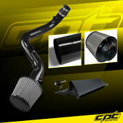 For 10-13 Golf Gti Tsi Mk6 2.0t 2.0l Black Cold Air Intake + Stainless Filter