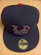 Sample Leaders 1354 Ldrs Cement Print New Era Fitted Cap Hat 7 3/8 New