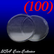 100 1 Oz. Silver And Copper Round Size Direct Fit Air-tite Coin Capsules [h39]