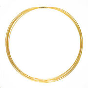 14 Kt Yellow Gold 14 Strand Gold Cable Wire Necklace Bayonet Clasp New 18