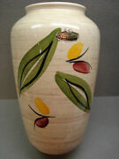 "VINTAGE WEST GERMANY BAY KERAMIK HANDGEMALT HAND MADE 10"" VASE ca1960s  GERMAN"