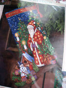 Christmas Dimensions Holiday Needlepoint Stocking Kit,merry Moment,9126,rare,16