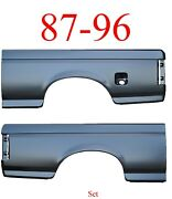 No Shipping 87 96 Ford 6.5and039 Bed Side Set Single Fuel Hole Short Bed Both Sides