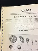 Vintage Omega Spare Parts Guide C. 1959 Lists All Omega Watch 285 Caliber Parts