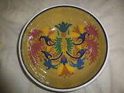Collectible~Tanarpaia~Greek~Stoneware~Pottery~Bowl~Signed~1970's