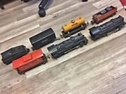 Vintage Authentic Lionel Train And Tracks Set Used 7pc Trains 02689wx 204 242 652