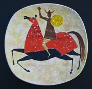 1960-70s MID CENTURY MODERN ITALIAN HAND PAINTED  WALL HANGING CHARGER
