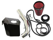 Red Cold Air Intake Kit+heat Shield Fit 09-13 Gmc Sierra 1500 V8