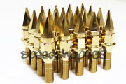 Z Racing 35mm Gold Spike Lug Bolts 12x1.5mm For Bmw 5 Series Cone Seat