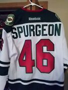 Nhl Official Game Jersey Signed/autograph Minnesota Wild Starjarde Spurgeon