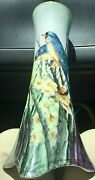 Beautiful Hand Painted Larger VASE - Bavaria SELB - Birds and Daffodils - Finch