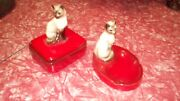 Mid century vintage Brad Keeler siamese cat ashtray and cigarette box