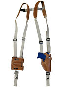 New Barsony Tan Leather Shoulder Holster Mag Pouch Kahr Beretta Ultra Comp 9mm