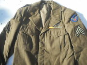 Ww2 Us Army Air Corp Greenland Ike Jacket Sgt Air Crew Wing Size 38 R