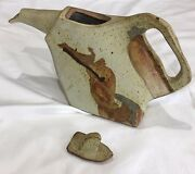 Vintage, rare abstract pot and lid by Charles Rothschild Barlow Pottery