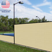 Customize 2ft Beige Vinyl Coated Fence 100 Privacy Commercial Garden Screen