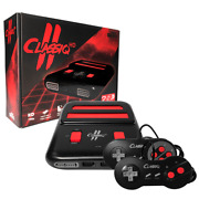 Classiq 2 Hd 720p Twin Video Game System Black/red For Snes/nes Old Skool