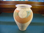 Peter Powning Canadian Art Pottery Hand Made Raku 8 Inch Vase No Reserve no 38
