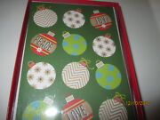 Peace Ornaments Christmas Sunrise Greeting Cards Boxed 18 New Luan
