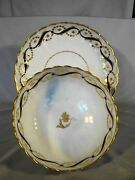 18th Century New Hall Porcelain Matching Pattern 156 Reeded Plate And Bowl