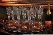Waterford Crystal 12 Days Of Christmas Flutes, Flutes 1-6.
