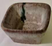 McCarty Pottery Nutmeg Small Square Bowl, new