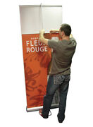Double-sided 36 Retractable Banner Stand Roll Up Trade Show Display + 2 Prints