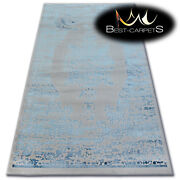 Very Soft Wool And Acrylic Rugs Blue Manyas Thick And Densely Woven High Quality
