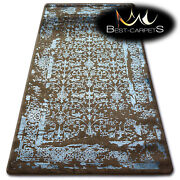 Very Soft Wool And Acrylic Rugs Brown Manyas Thick And Densely Woven High Quality