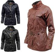 Womens Game Blaze Antique Wax Jacket With Belt   Waxed Cotton