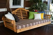 Outdoor 75 Marlboro Swing Bed - 18 Finish Options - Amish Made In Usa