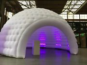 26and039w X16hand039 Inflatable Multi-functional Indoor/outdoor Igloo Tent With Led Lights