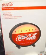 Coca Cola Backlit Oval Neon Sign - 18 - Wall Mountable/removable Feet For On Ta
