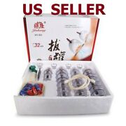 32 Cups Set Vacuum Cupping Massage Massage Healthy Slimming Suction Cupping Set