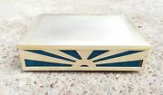 1910s Antique Rare Players Cigarette Glass And Wood Fitted Special Edition Box Uk