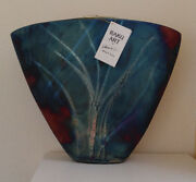 WILLIAM K.TURNER SIgned Raku Art V Vase Original Copper Matte Reduction 14 x 16""